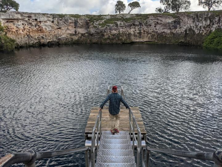 Escape from Victoria, Exploring MountGambier
